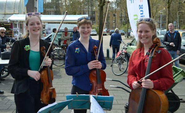 Trio Sorelli op de tuinmarkt in Kerckebosch